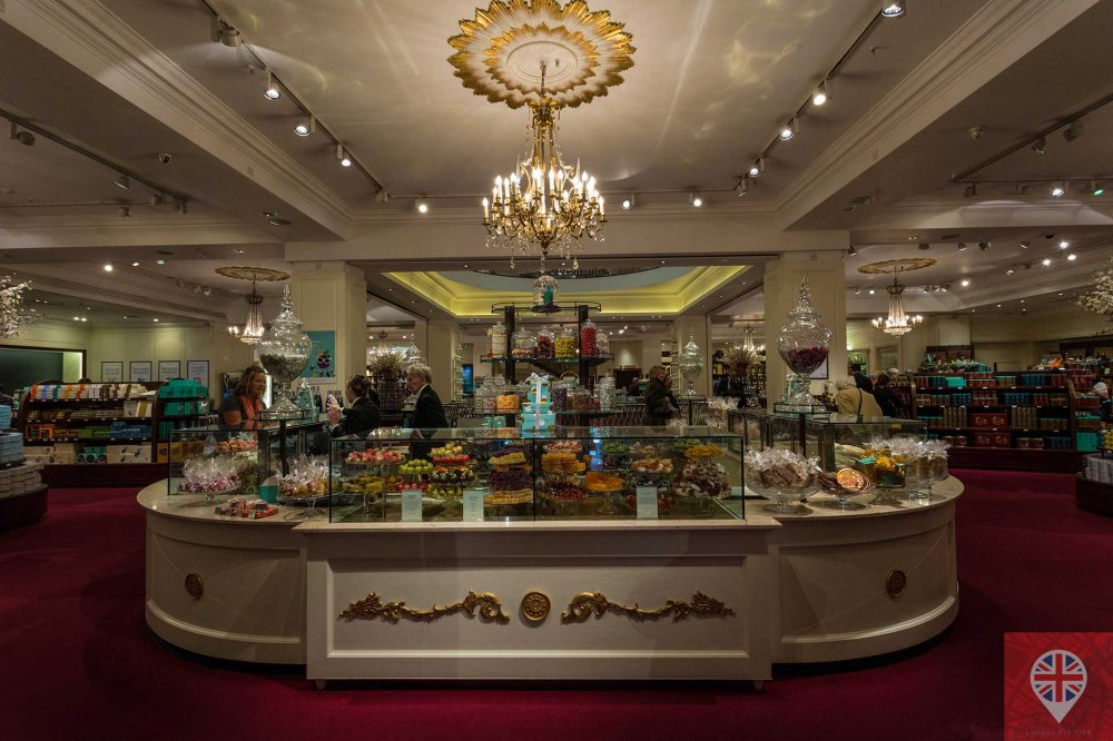 Fortnum Mason sweets counter