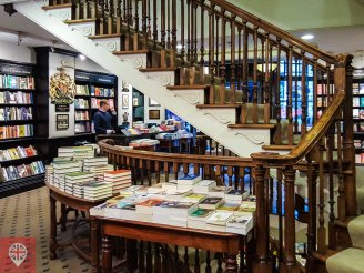 Hatchards interior stairs