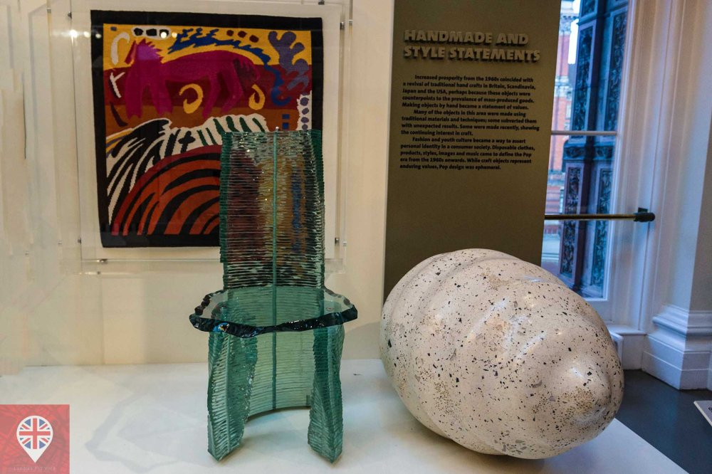 V&A glass chair