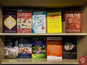 Watkins books on the shelf