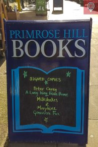 primrose hill bookshop sign