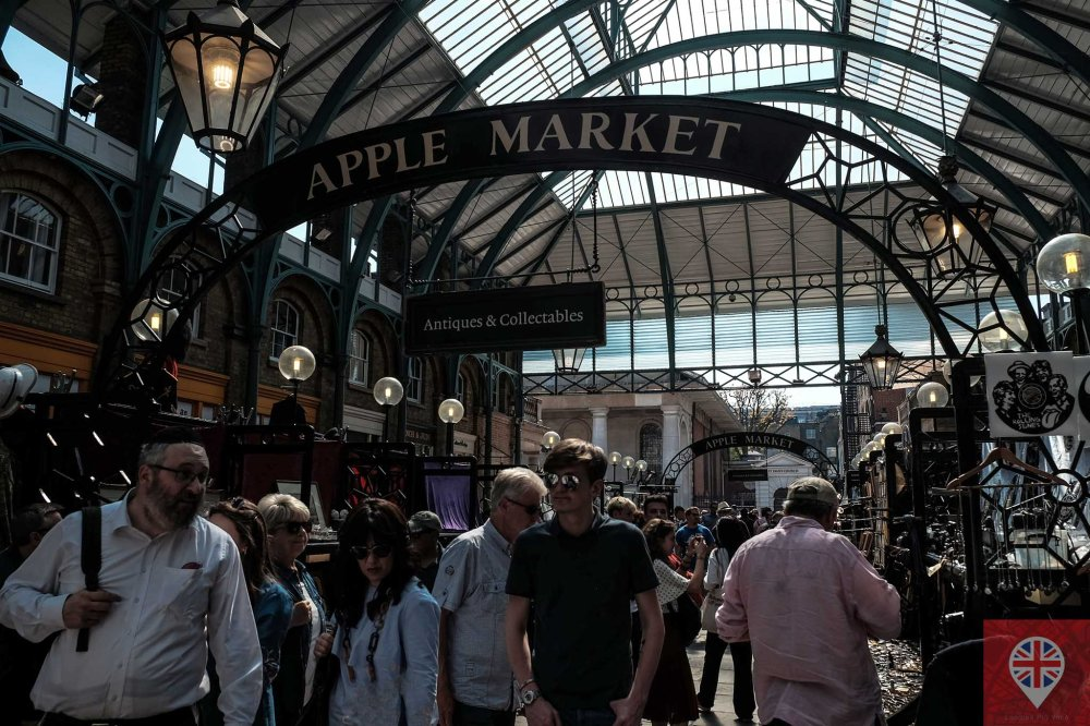 Covent Garden apple market