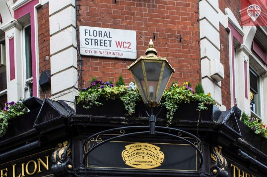 Covent Garden floral street sign