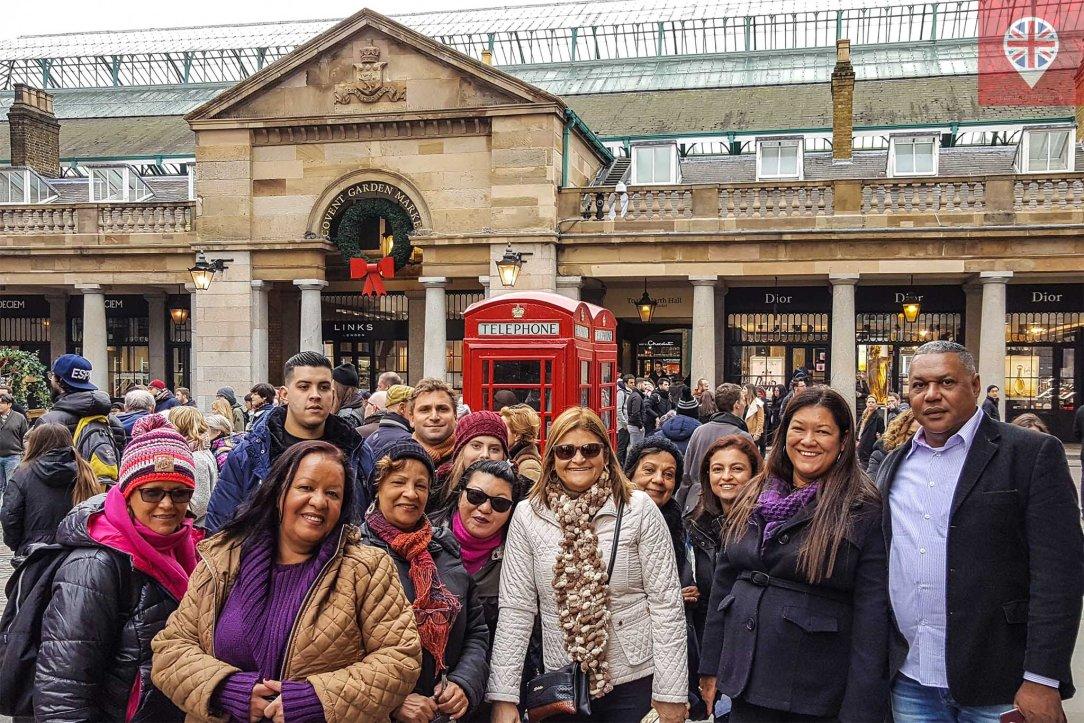 Covent Garden grupo turistas