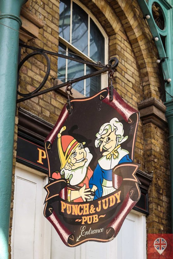 Covent Garden punch and judy pub