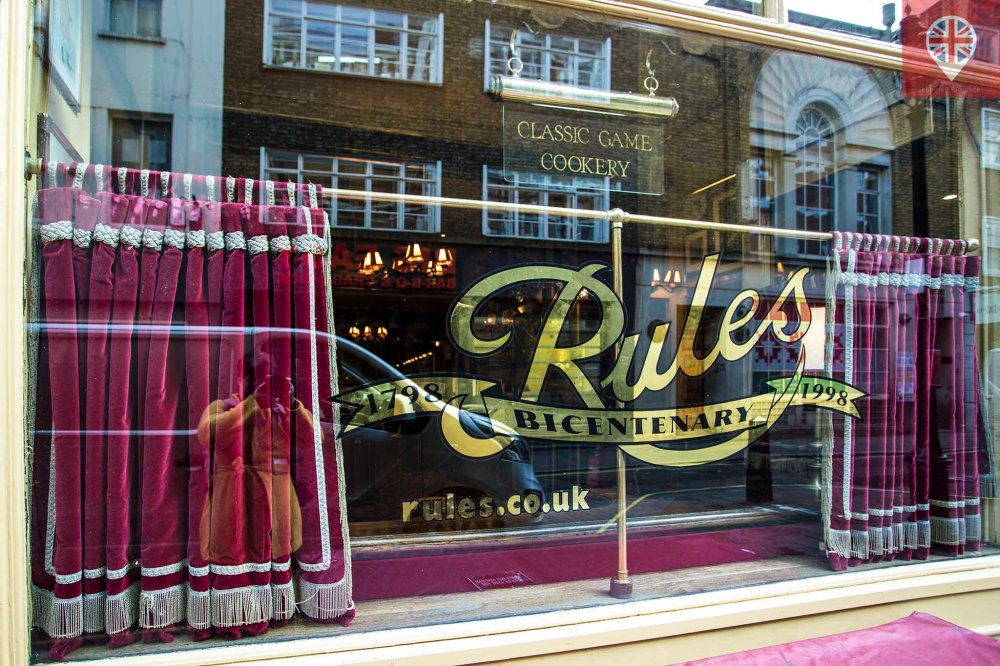 Covent Garden Rules restaurant sign