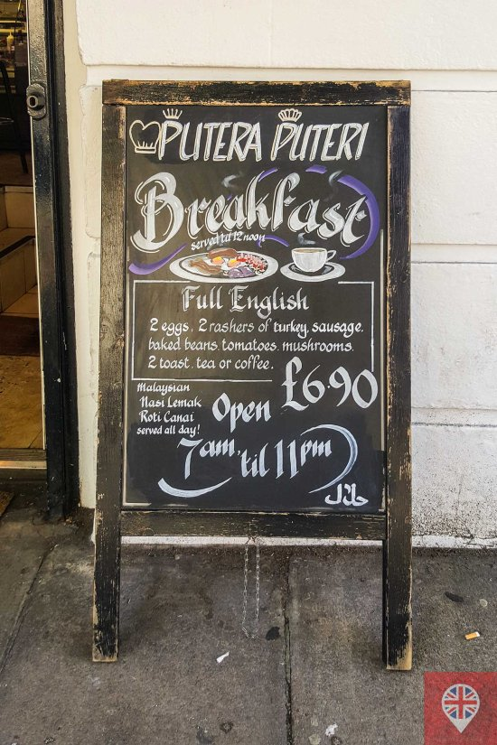 Full Breakfast sign