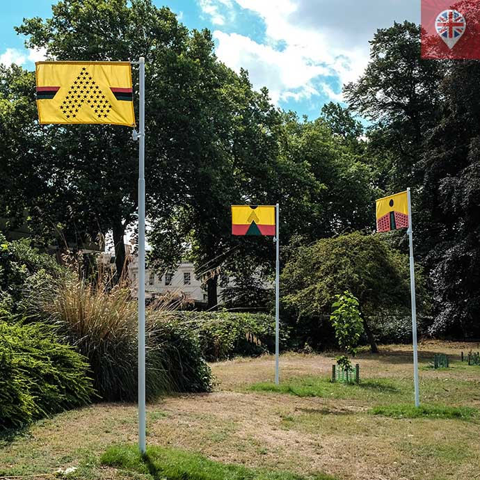 frieze 2018 PAN AFRICAN FLAGS