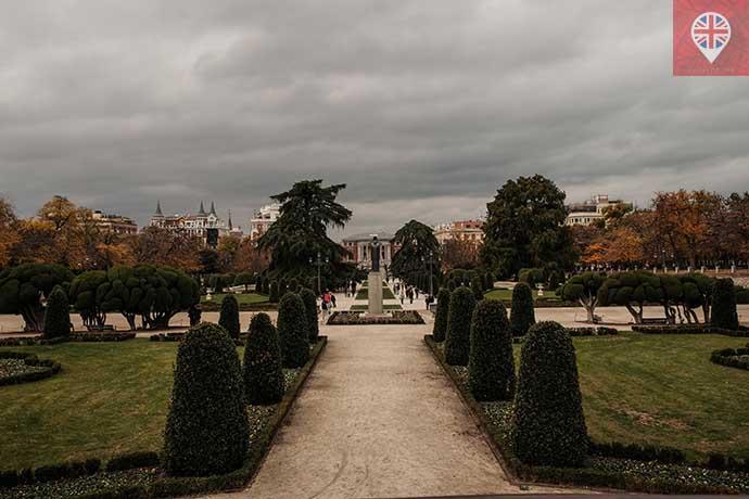 Parque del Retiro jardim arvore brocoli