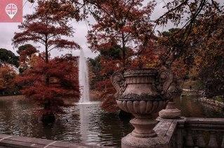Parque del Retiro lago chafariz