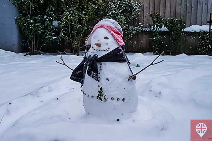 boneca de neve inverno londres