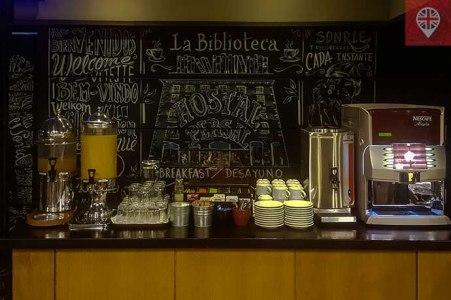 hostalpersal madrid breakfast bar