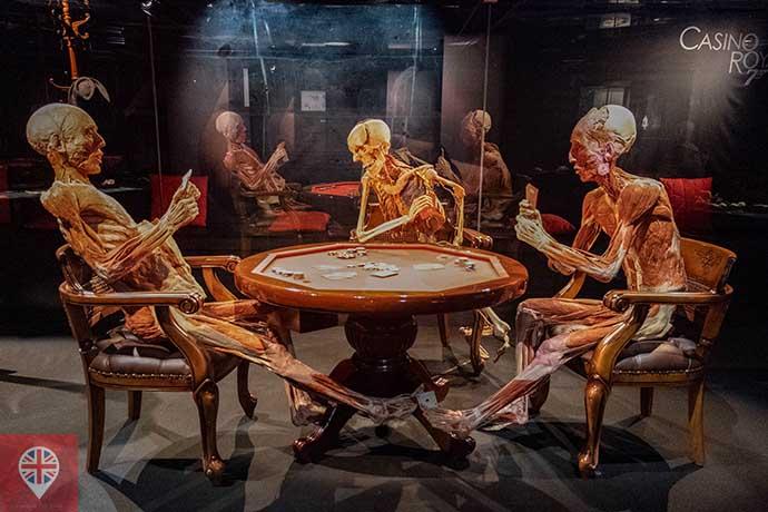 Body Worlds Poker Playing Trio