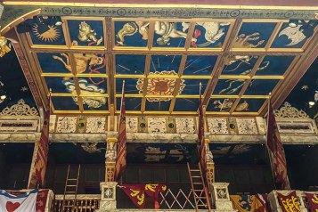 shakespeare globe teto palco