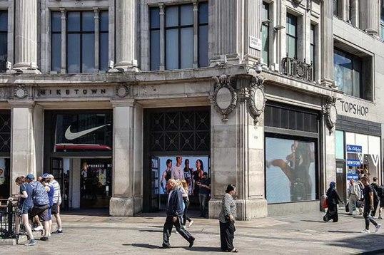 Oxford Street Niketown TopShop
