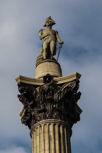 Trafalgar Square Nelson close