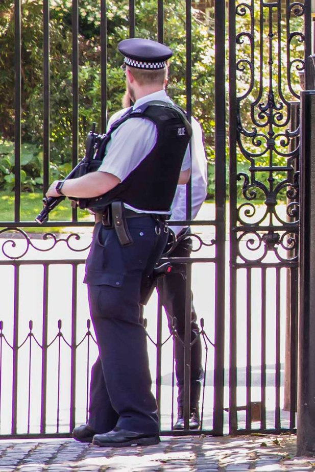 armed police american embassy close